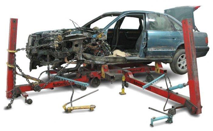сложный ремонт, вытягивание кузова